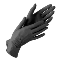 """Перчатки """"Sunviv"""" нитриловые, черные, одноразовые, неопудренные, нестерильные, Малайзия. Размер S и М"""