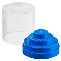 Изображение Бокс синий для хранения боров, фрез, насадок/(48 шт)