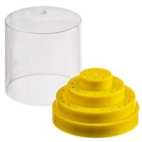 Изображение Бокс желтый для хранения боров, фрез, насадок/(48 шт)